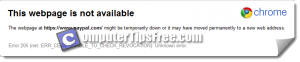 Can't Access Paypal - Error 205 net ERR_CERT_UNABLE_TO_CHECK_REVOCATION Unknown error