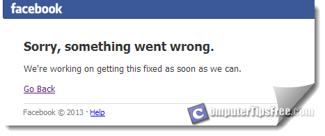 Facebook Sorry Something Went Wrong We're Working On Getting This Fixed As Soon As We Can