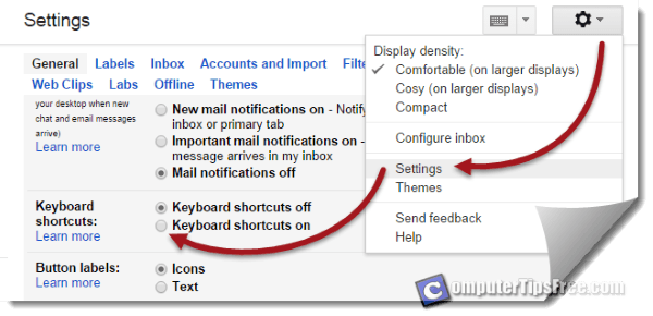 Gmail keyboard shortcuts www.gmail.com login