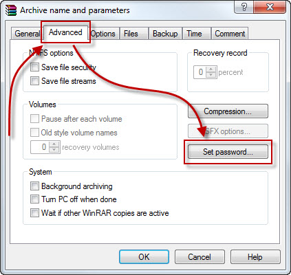 how to set a password on windows 7