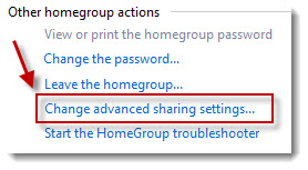 change sharing settings