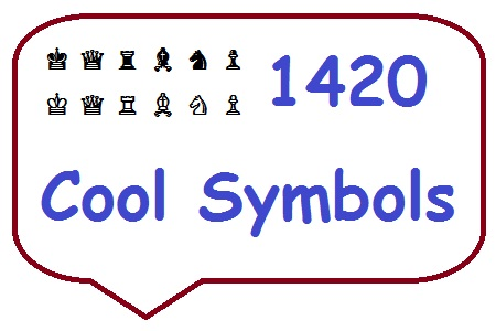 1420 Cool Alt Key Codes Symbols And Characters For Facebook Twitter
