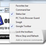 enable show toolbars ie 9