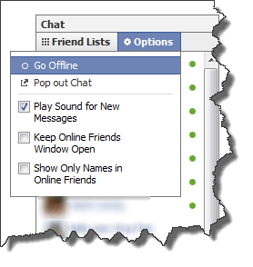 facebook group chat go offline