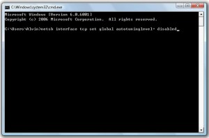 tcp autotuning disable increase download speed windows 7 vista 8