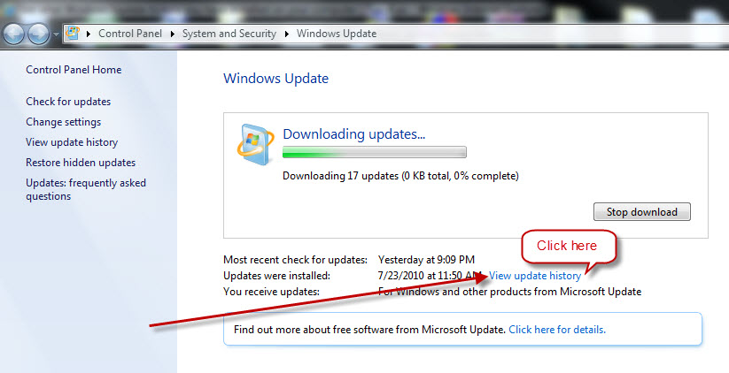 view-windows-update-history-in-xp-vista-and-7-delete-or-remove-4