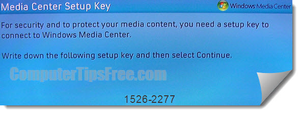 xbox media center setup key